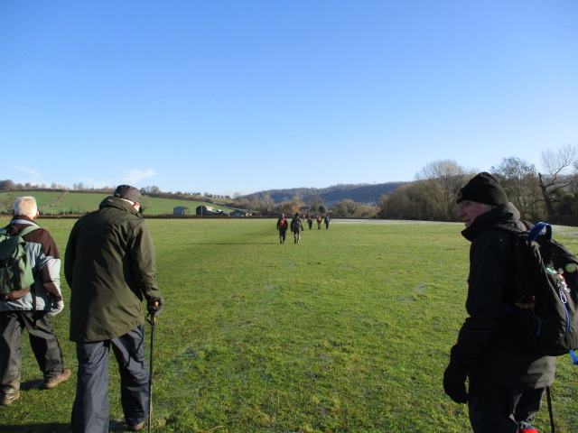 Then we stride across the fields