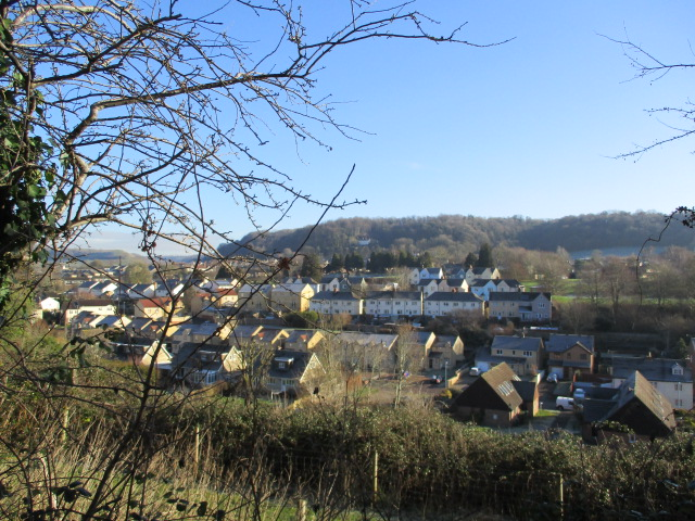 We look down on Wotton from this elevated path