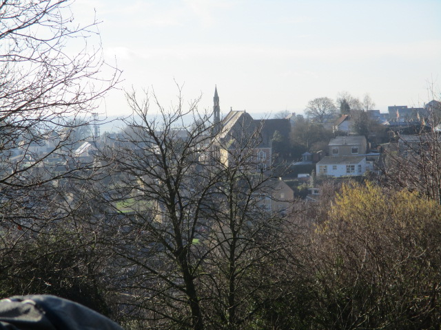 Good views back over the town