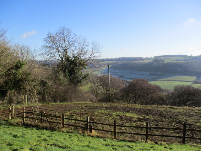 Then a sunny clearing for coffee where Coombe out of the sun is still frosted