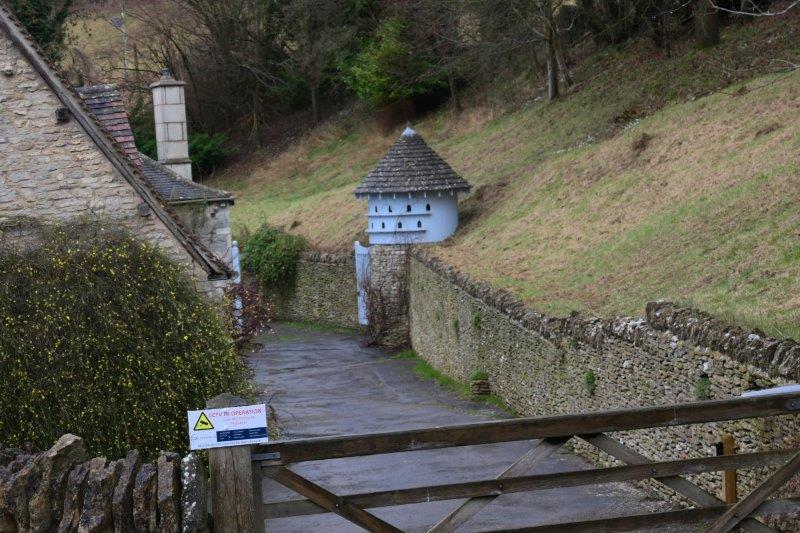 Down past Trillgate Farm with its dovecote