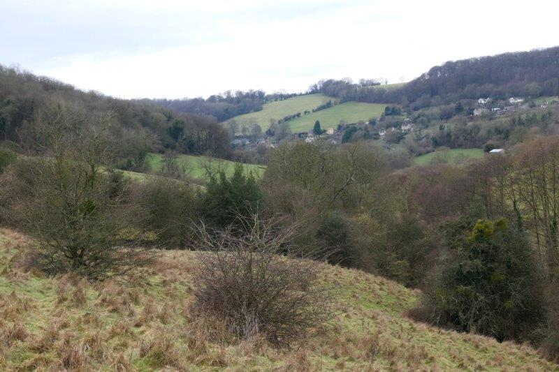 And down the valley to Slad