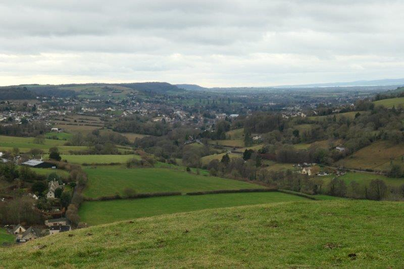 To come out to Swifts Hill where we have views down the Severn Valley