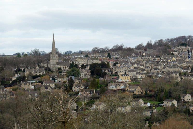 To look down on Painswick