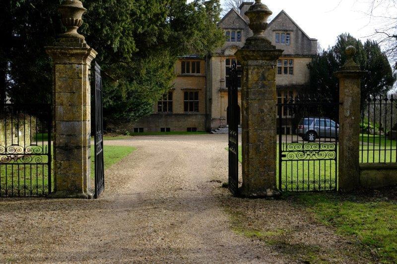 Edgeworth House hiding behind its gates