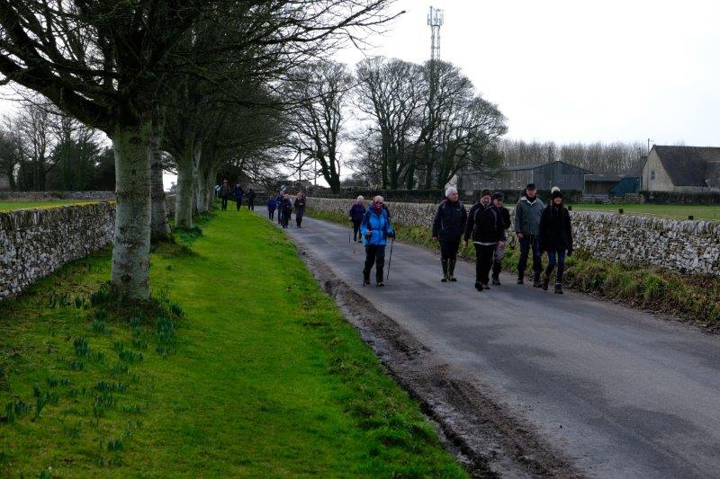 The last lap following the road into Miserden