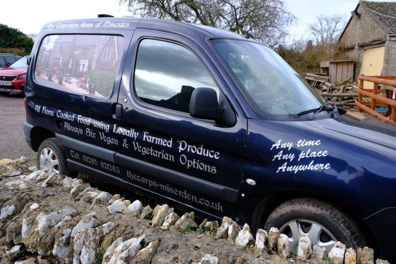 Where the landlord has got himself a new van