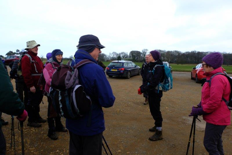 Karen and Tony greet us on a chilly Stinchcombe Hill