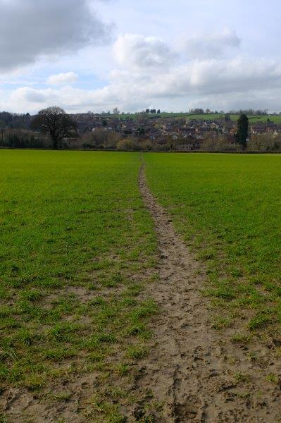 Then off we go - not that path