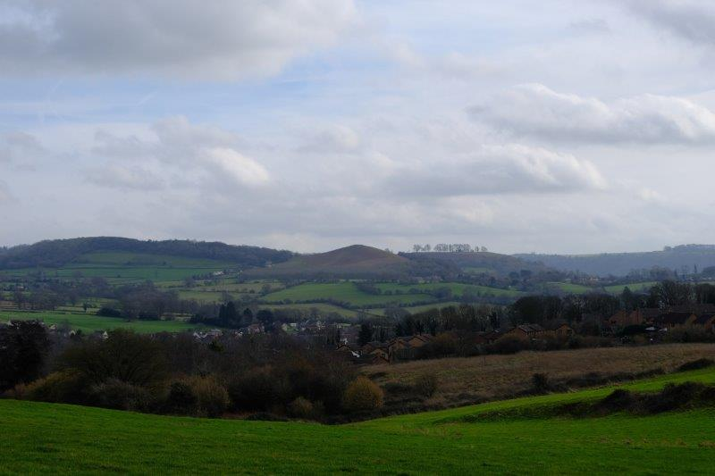 While the other way we can see the Cotswolds, Cam Peak and Downham Hill