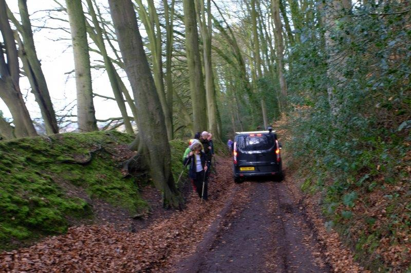 Then a long climb hampered by cars