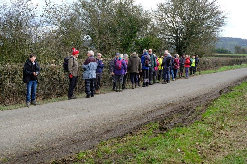 A short stretch of road walking - we make way for traffic
