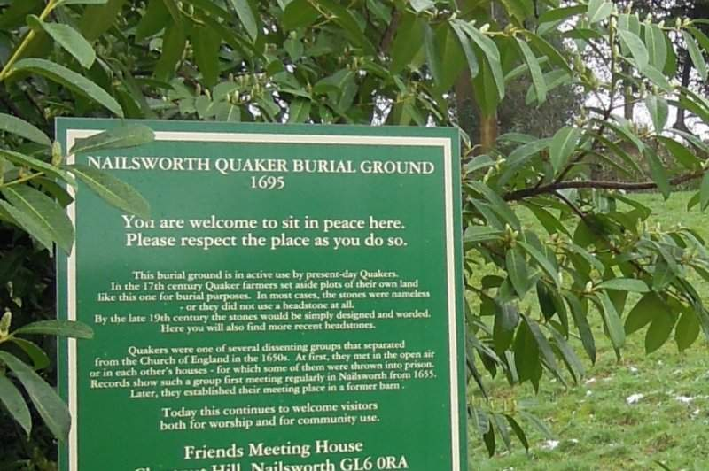 We pause at The Quaker burial ground