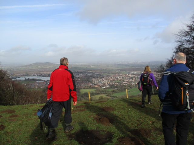Then we arrive at the top of Coopers Hill and views over Gloucester