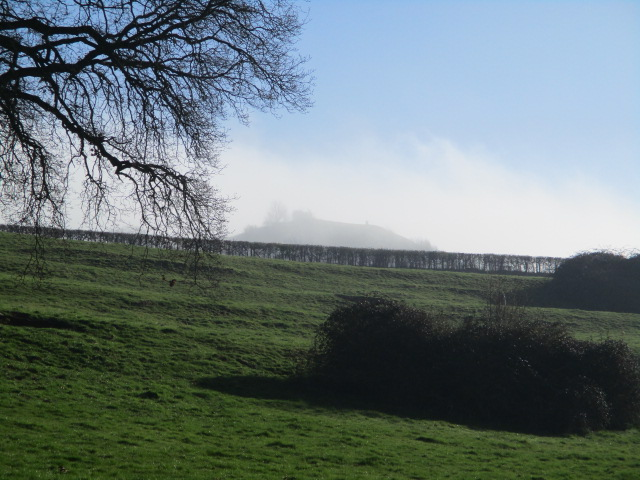 We discuss whether there is a trig point on the hill above, but it keeps disappearing in the mist