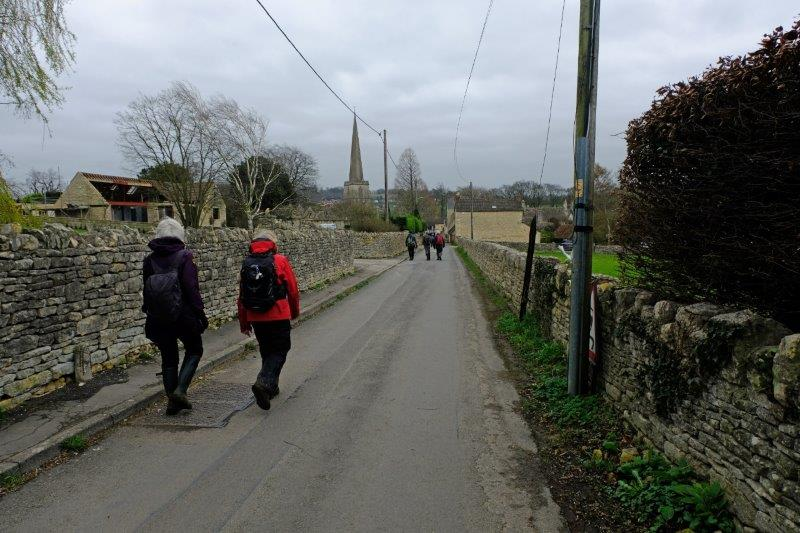 The last stretch back into Painswick