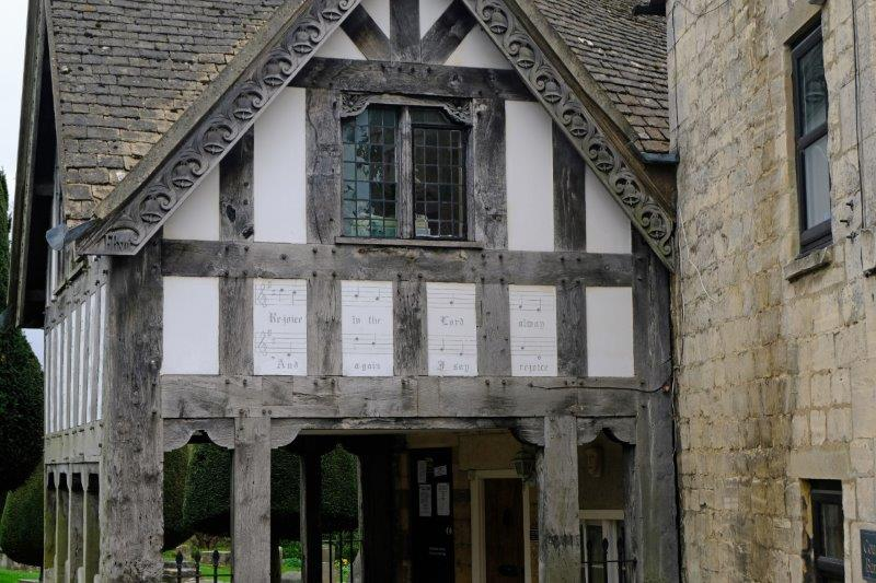 Past the lych gate and back to the car park