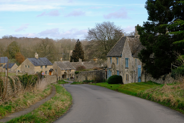 On through the village