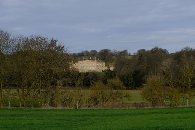 Large house showing through the trees