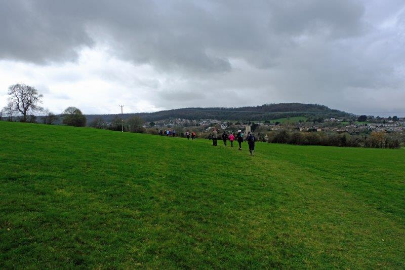Making our way round the hillside