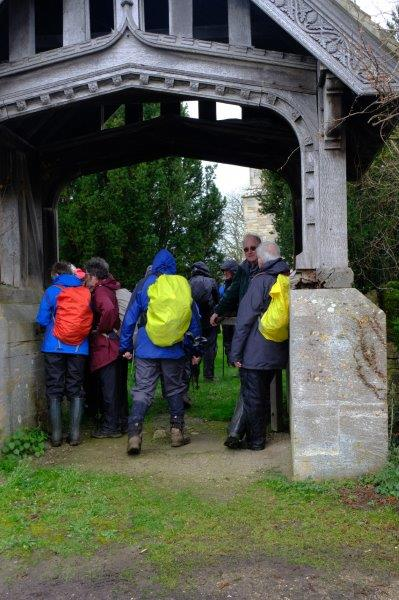 We attempt the Guinness record for the number of people we can get in a  lych gate
