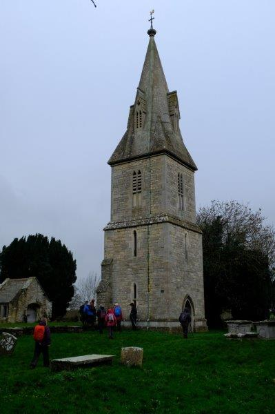 The lonely tower, the rest of the church having been moved to Stonehouse