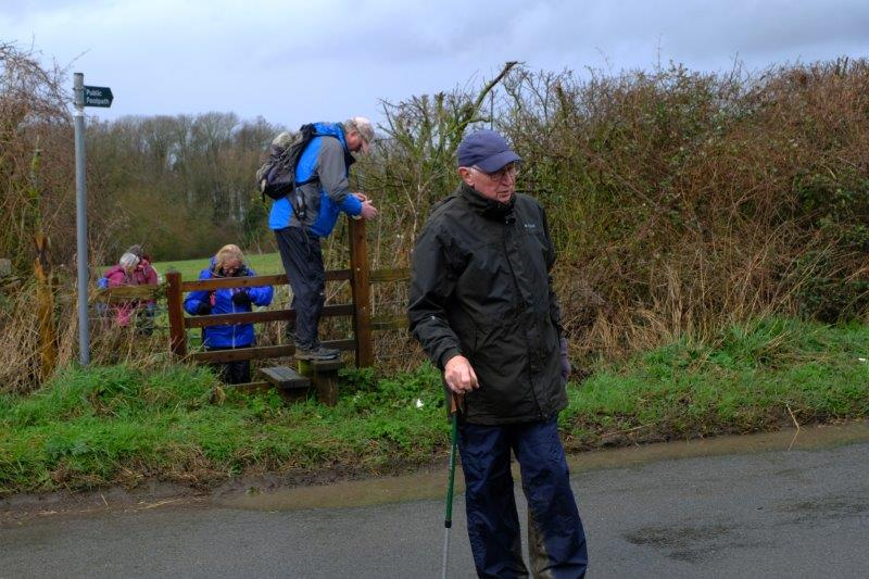 Crossing the Coaley to Frocester road