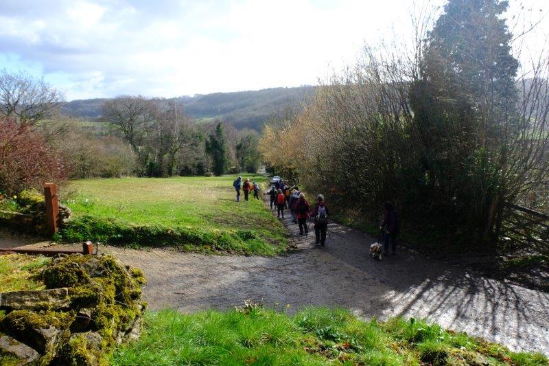 Before heading downhill towards Slad