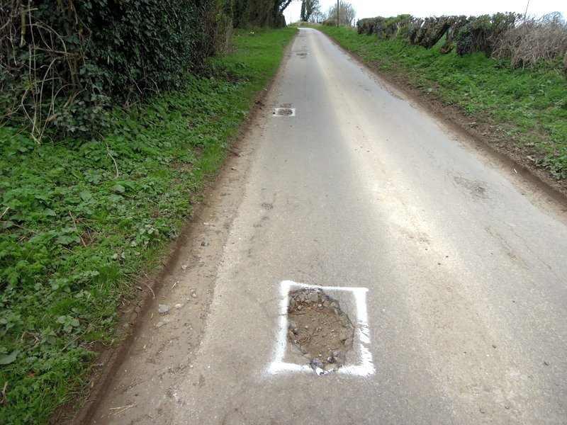 Along a potholed lane