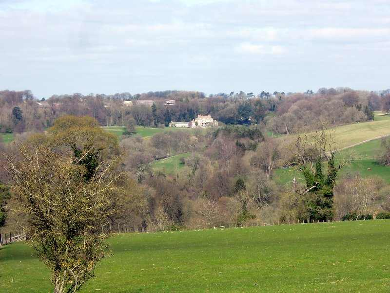 Views over to Gatcombe Park