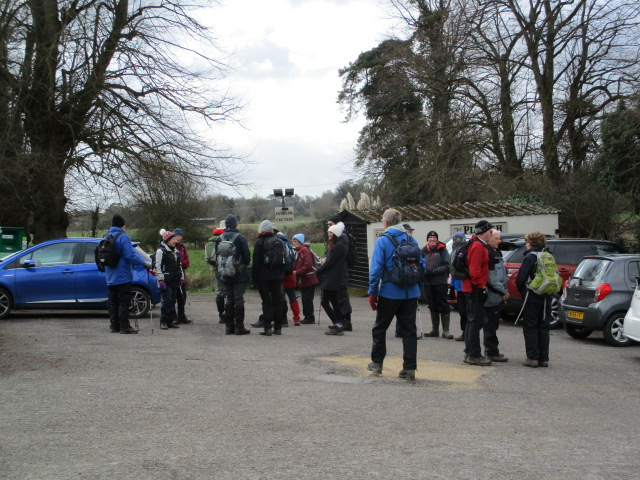 The Plough car park for Brian and Annie's walk