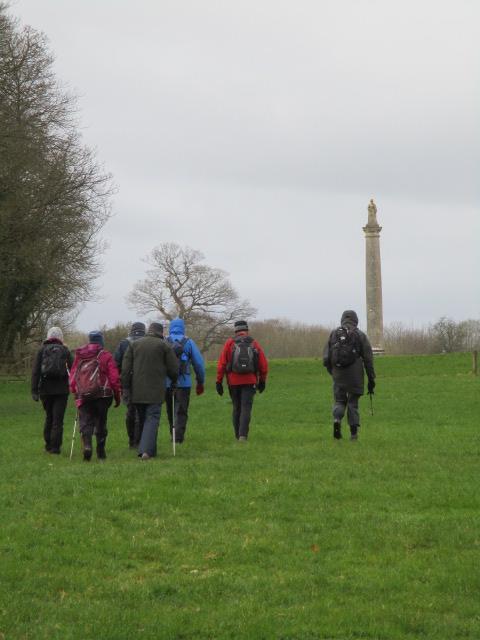 We head towards Queen Anne's Monument