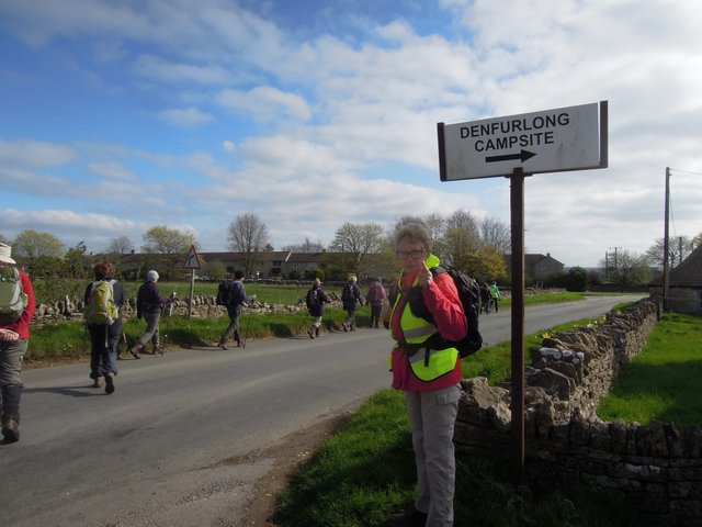26 walkers set off along the road
