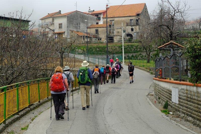 Continuing through the village