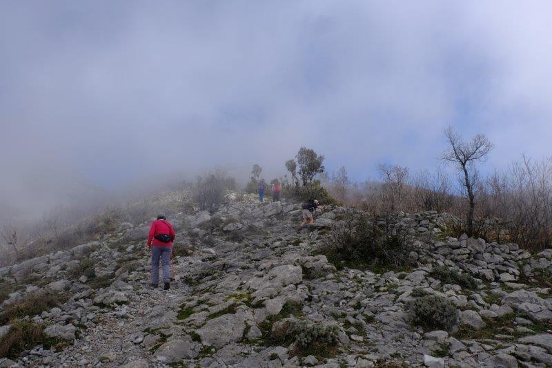 Starting to climb