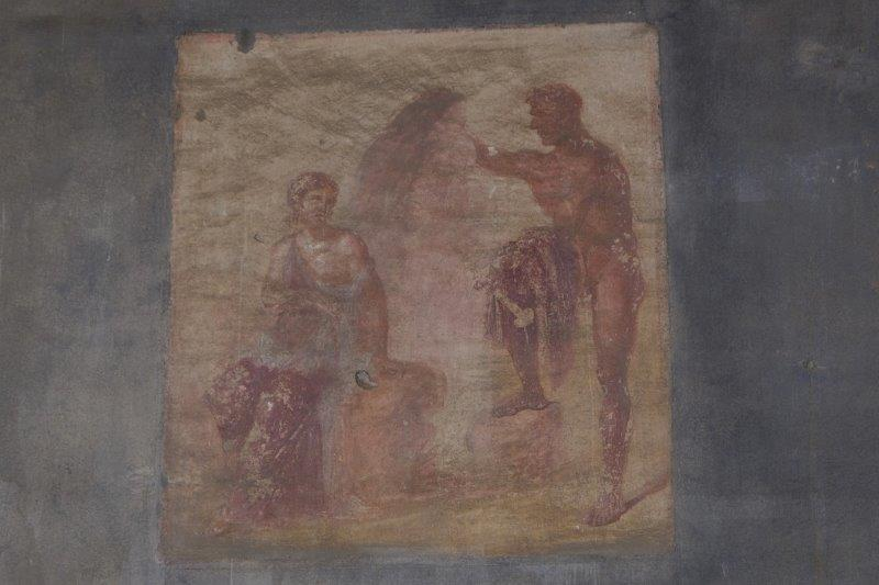 Wall painting in a villa