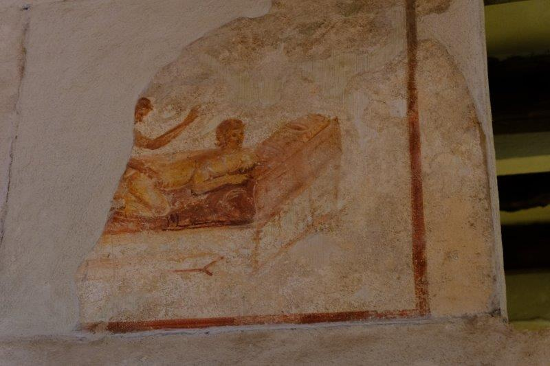 Wall painting from a brothel giving handy hints