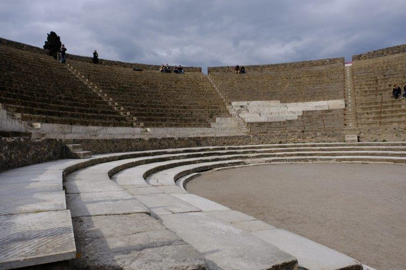 Heading for the exit we pass through an amphitheatre