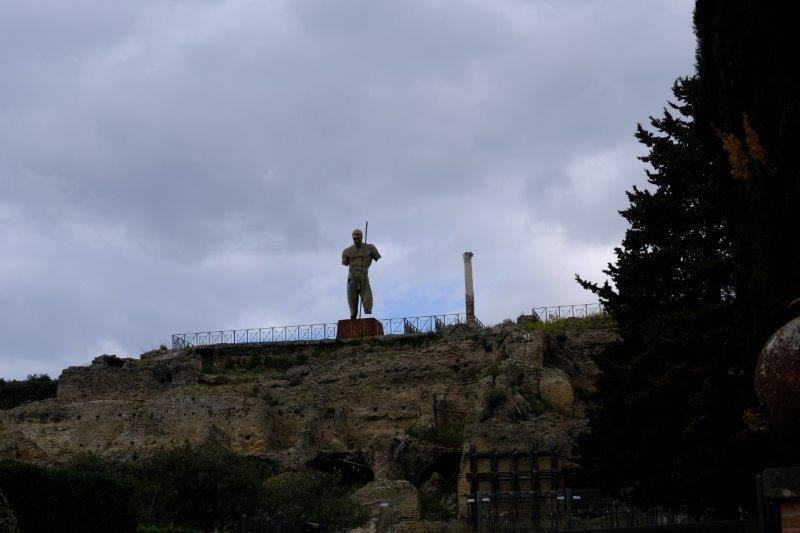Statue on wall of the city