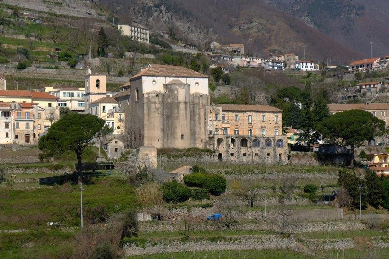 Today our walk begins in Ravello, its hillside setting giving us many  views across the valley