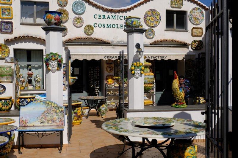 A colourful ceramic shop