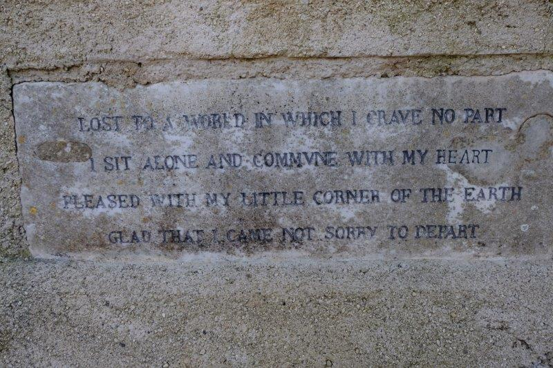Originally thought to be a quote from D H Lawrence but now known to be  from Catallus