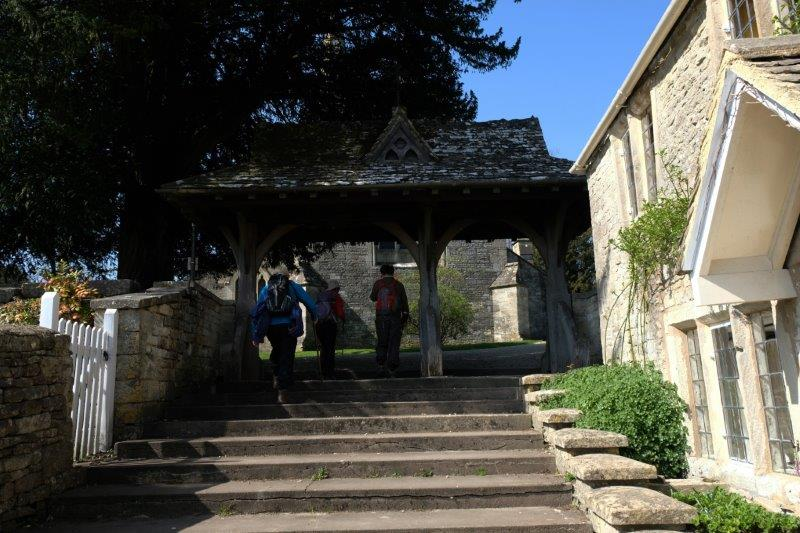 Up under the lych gate