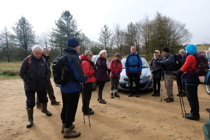 We assemble in the car park at the Kilkenny Viewpoint