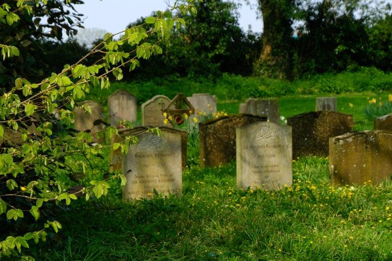 The graves of Anthony Kershaw and his wife