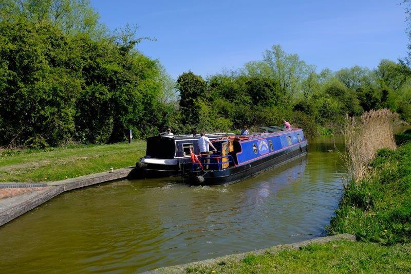 And narrow boats are plying backwards and forwards