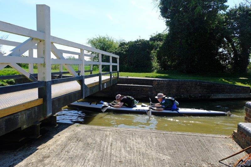 Lunch is spent watching canoeists duck to go under a low swingbridge