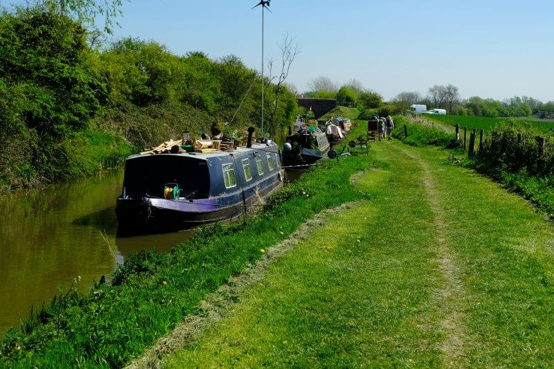 And we continue along the towpath