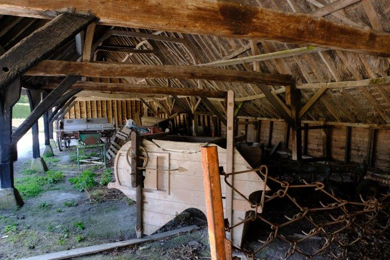 With an old barn filled with farm machinery