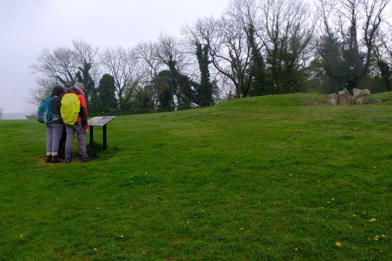 Pausing to look at the Long Barrow